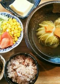 夕飯!ロール白菜