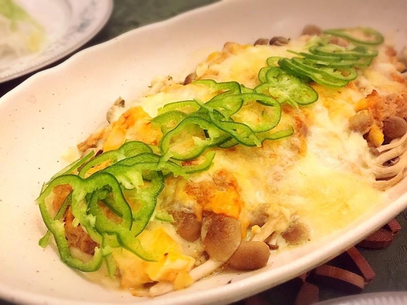 シメジのチーズ焼き