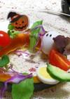 当日ハロウィン☆かぼちゃのリース サラダ