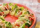 炊飯器活用!コロコロ野菜でリースサラダ