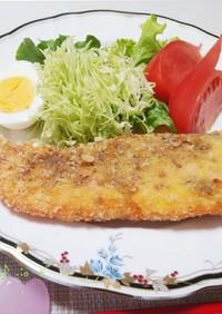 鮭の切り身で粒マスタードフライ