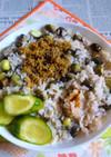 丹波篠山の黒豆の枝豆炊き込みご飯