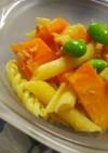 柿とパスタのさっぱりサラダ