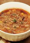 お豆ともち麦のトマトスープ