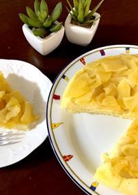 リンゴ2個♪フライパンでHM蒸しケーキ