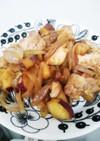 簡単に♪さつまいもと鶏肉のオイマヨ炒め