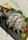 太刀魚 刺身 飾り盛