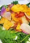 柿と大根、生ハムのリースサラダ