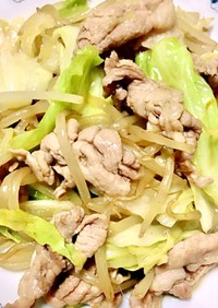 もやしキャベツ豚こまの簡単野菜炒め