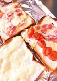 簡単ヨーグルトのオープンサンドイッチ
