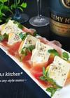 簡単オシャレ一品★柿とチーズの生ハム包み
