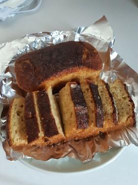 簡単バナナしっとりケーキ