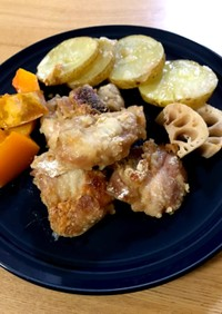 皮パリパリ 簡単 鶏のオーブン焼き