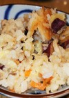 【秋味】さつまいもときのこの炊き込みご飯