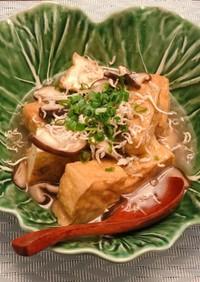 厚揚げ豆腐のきのこあんかけソース
