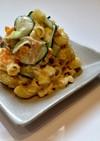 キュウリと卵とシーチキンのマカロニサラダ