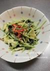 豆苗とアボカドのサラダ