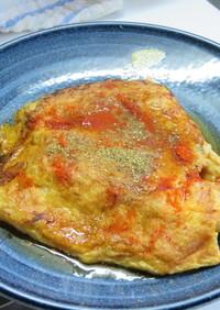 山椒香る☆美味!サンマ蒲焼のオムレツ包み