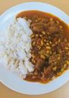 砂肝と納豆の和風カレー