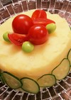 簡単☆ポテサラケーキ