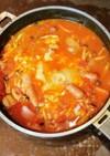 鶏としめじのトマト煮込み