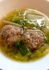 白菜と豚ひき肉の肉団子スープ