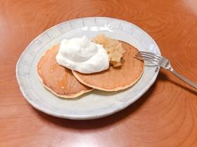 ホイップクリームに合うパンケーキ