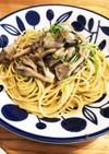簡単!牡蠣と豆苗と舞茸のオイルパスタ