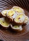 生姜つゆでさっぱり♡薩摩芋と大根の肉巻き