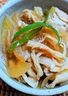 豚バラ肉と玉ねぎの麺つゆ炒め