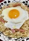 ベーコン卵のガーリックバターライス