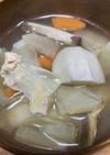 二子の里芋で芋の子汁