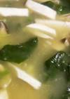 お茶漬けの素と卵でほんわか中華スープ