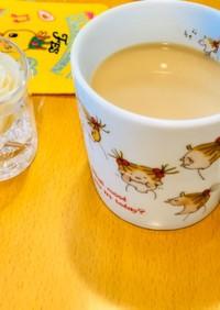 ミルクティーの麦茶割り