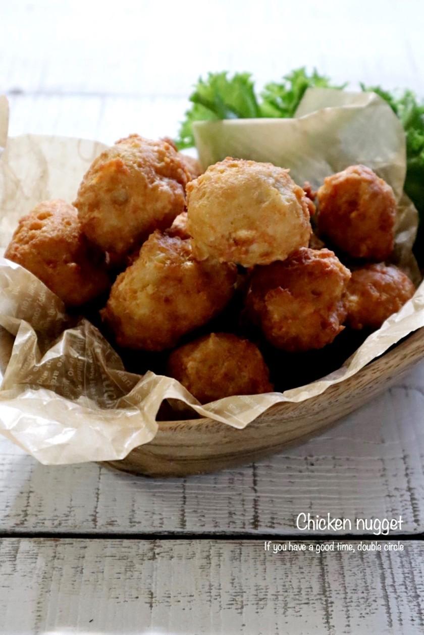 お豆腐でふわふわヘルシー☆チキンナゲット