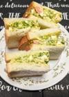 海老とブロッコリーのサンドイッチ