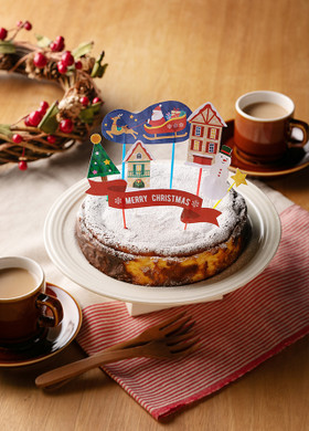 雪降る街のクリスマスバスクチーズケーキ