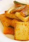 南瓜と絹揚げの粉チーズ炒め♪