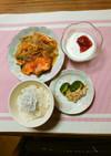 ヨウサマの減塩朝食(鮭のあんかけ)⑳