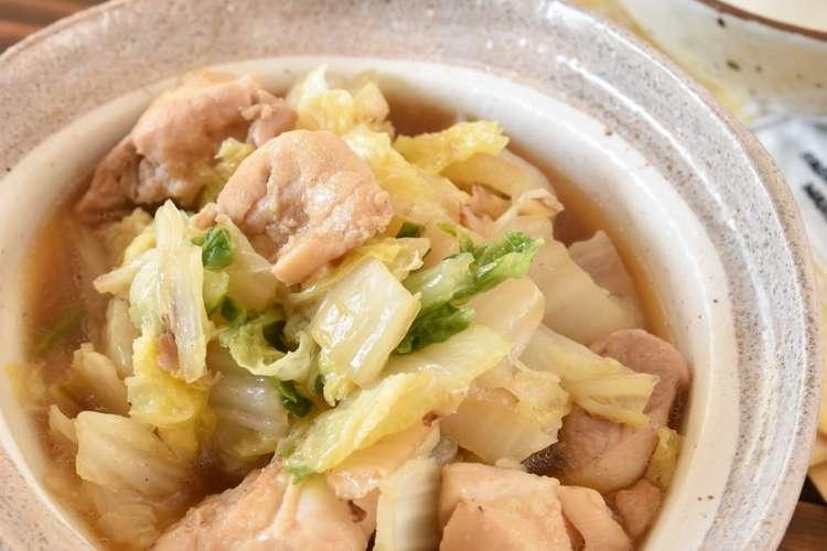 鳥 もも肉 白菜 白菜と鶏もものガリバタ炒め 作り方・レシピ