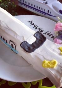 HMで簡単♡可愛い新幹線ケーキ