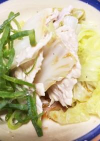 白菜と薄切り肉の重ね蒸し