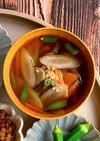 切り干し大根戻し汁活用*根菜醤油麹スープ