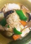 全てレンジ胸肉根菜のにんにく醤油炒め煮