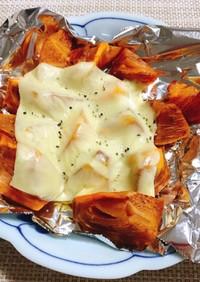 簡単☆おつまみにも♪柿のチーズ焼き