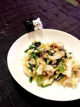 簡単♪春菊と白菜のツナマヨサラダ♡