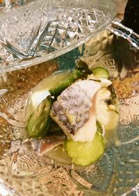 かぼすの〆鯖酢の物