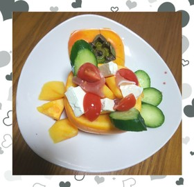 ☺️旬❤️✖️❤️柿De冷製ファルシ☺️