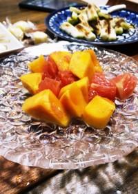 柿とピンクグレープフルーツのマリネ