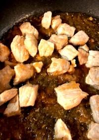 豚角切り肉☆玉ねぎソース